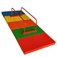 Buy cheap Adjustable Home Childrens Gymnastics Equipment Red Parallel Bars Security from wholesalers
