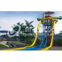China Large Fiberglass Water Slides Equipment , Garden Water Slide For 4 Guests Per Time on sale