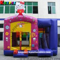 Wholesale Hello Kitty combo ,inflatable combo game,inflatable bouncer with slide obstacle KCB054 from china suppliers