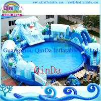 Quality Portable Inflatable Water Park With Big Pool And Slide For Sale for sale