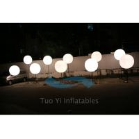 Wholesale 190T Ripstop White Large Inflatable Ball LED Light Pole Balloons from china suppliers