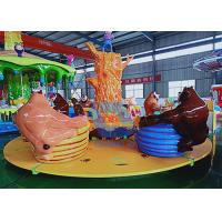Buy cheap Carousel Teacup Amusement Ride , Rotating Children'S Funfair Rides For Family from wholesalers