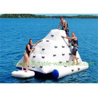Wholesale 4 X 3 M Inflatable Water Sports Iceberg Floating Climbing Wall White Colored from china suppliers