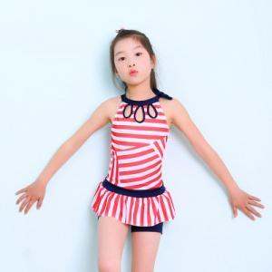 Quality 2019 Popular Stripe Split Skirt Swimming Suit for sale