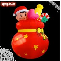 Wholesale 3m Inflatable Christmas Lucky Bag for Indoor Outdoor Christmas Decoration from china suppliers
