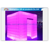 China Multicolor Led Inflatable Photo Booth Enclosure / Inflatable Photo Studio for Club on sale
