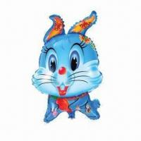 Wholesale Cartoon Animal Balloons with Rabbit Shape, Made of PA + PE Materials, Measures 69 x 45cm from china suppliers