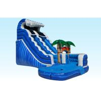 China PVC Blue Jungle Monster Inflatable Wave Slide With Pool , 25L x 15W x 18H on sale