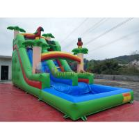 China Pvc Tarpaulin Kids Inflatable Water Slide With Pool / Commercial Bounce House Water Slide on sale