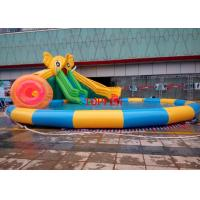 Wholesale Custom PVC Tarpaulin Inflatable Water Park With Swimming Pool For Kids / Adults from china suppliers