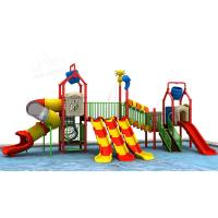 Wholesale CE Certified Water Park Slide Playground Colorful Straight Type Channel Slides from china suppliers