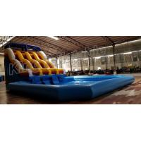 Wholesale Durable PVC Commercial Inflatable Water Slides With Swimming Pool from china suppliers