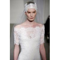 Wholesale Romantic Lace Off the Shoulder See Through Wedding Dresses with Short Sleeve , court train from china suppliers