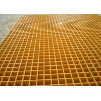 Wholesale 38MM Square Hole Plastic floor grating Yellow Color Free Sample from china suppliers