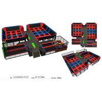 Wholesale 440M2 Red & Blue Color Style Amusement Bungee Park Equipment/ Big Trampoline Park In India from china suppliers