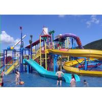 Wholesale 550 Sqm Stainless Steel Raft Slide Interactive Water Park Equipment , Hot-Dip Galvanized from china suppliers