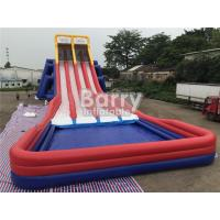 Wholesale Four Lanes Giant Inflatable Slide / PVC Water Slide With Big Pool For Adults from china suppliers