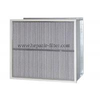 Wholesale Deep Pleat Type High Temp Hepa Filter Performance With Aluminum Foil Separator from china suppliers