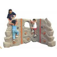 Wholesale Slip Resistance Small Climbing Wall / Kids Outdoor Rock Climbing Wall 360*150cm from china suppliers