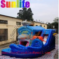 Wholesale hot sell inflatable shark slide combo from china suppliers