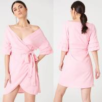 Wholesale Off Shoulder Overlapped Ladies 2018 Summer Dresses from china suppliers