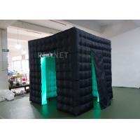Wholesale Durable Inflatable Cube Photo Booth Enclosure Black Exterior And White Interior from china suppliers