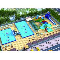 China Outdoor Entertainment Inflatable Water Parks / Commercial Water Slide on sale