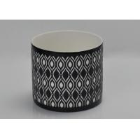 Refillable Cylinder Tealight Candle Holder , Ceramic Candle Warmer