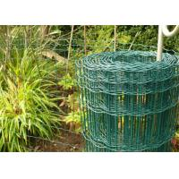 Wholesale 100 x 50mm Holland Garden Wire Mesh , Green Plastic Coated Wire Border Fence from china suppliers