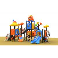 Wholesale Anti Skid Rope Climbing Plastic Playset For Outside Orange Color In Summer from china suppliers
