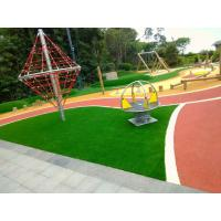 Outdoor Playground Soft Rubber Flooring / Weatherproof Rubber Granules Flooring