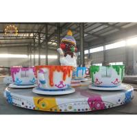 Wholesale 3.5kw Power Crazy Carnival Rides 6m Diameter 3.5rpm Speed Saucer Tea Cup Design from china suppliers