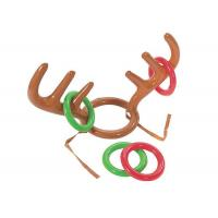 Wholesale No - Toxic Inflatable Kids Toys Reindeer Antler Ring Toss Hat Game For Christmas Holiday Party from china suppliers