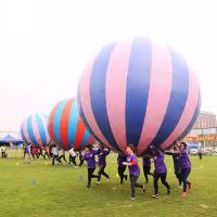 Wholesale Racing Inflatable Challenging Course Competitive Fun Run With Holding a Big Inflatable Ball Together from china suppliers