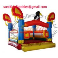 Wholesale Attractive Colorful Inflatable Commercial Bouncy Castle , Moonwalk Bounce House for hire from china suppliers