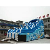China Blue Wave Kids Inflatable Water Slide For Pool CE , EN14960 , SCT , EN71 on sale