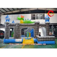 Indoor Family Inflatable Jump House 0.55mm PVC Fire Retardant