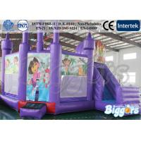 Wholesale Purple Comemecial Inflatable Bouncers Dora Bouncy Castle with Slide Combo from china suppliers