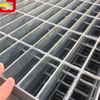 Heavy Duty Hdg Steel Galvanized Serrated Grating , Steel