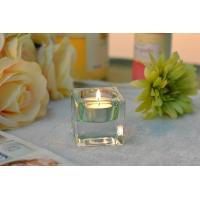 Quality Square Colored Glass Votive Candle Holders , Glass Tealight Holders for sale