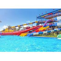 China Fiberglass Big Water Slides Water Park Equipment Corrosion Resistance on sale