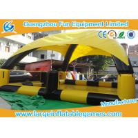 Yellow / Black Inflatable Water Pool For Bumper Boats With Detachable Air Tents