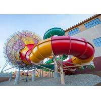 Wholesale Fiberglass Tornado Water Slide Factory In China Outdoor Amusement Park Equipment from china suppliers