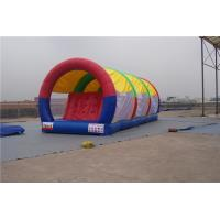 China Portable Inflatable Water Pool Slide , Double Lane Slip And Slide For Gardens on sale