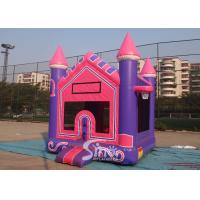 3In1 High Tear Strength Pink Inflatable Jump House with basket hoop for School Lobbies