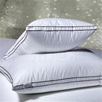 Wholesale Rectangle White Piping Goose Down Pillows For Home / Adult Travel Pillow from china suppliers