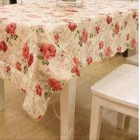 Wholesale Flower Printed PVC Table Cloths , Waterproof Table Cover OEM / ODM from china suppliers