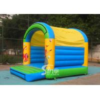Quality 5x4 mts outdoor Let's party kids inflatable bouncy castle made with 610g/m2 pvc tarpaulin for sale