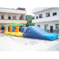Wholesale Aqua Jump Inflatable Water Parks / Inflatable Water Island Waster Slide from china suppliers