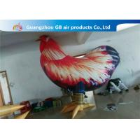 Wholesale Outside Standing Inflatable Cartoon Characters PVC Rooster Animal Cock Model from china suppliers